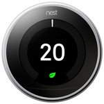 Thermostat intelligent Wi-Fi de 3e génération Nest Learning - Acier poli