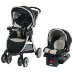 Poussette légère FastAction avec siège d'auto pour bébé SnugRide Click Connect 30LX de Graco - Noir