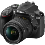 Nikon D3400 DSLR Camera with 18-55mm VR Lens (Black) (International Version w/Seller Provided Warranty)