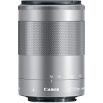 Canon EF-M 55-200mm f/4.5-6.3 IS STM Lens (Silver) (International Version w/Seller Provided Warranty)