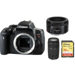 Canon EOS Rebel T6i with EF 50mm f/1.8 STM Prime Lens Kit International Version w/Seller Provided Warranty