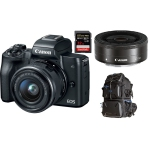 Canon M50 Digital Camera with Canon 15-45mm and Canon EF-M 22mm STM Bundle International Version w/Seller Provided Warranty