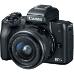Canon EOS M50 Mirrorless Digital Camera with 15-45mm Lens (Black) (International Version w/Seller Provided Warranty)