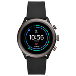 Fossil Sport 43mm Smartwatch with Heart Rate Monitor - Black/Smoke