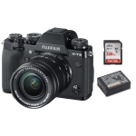 Fujifilm X-T3 Body Black XF 18-55mm f/2.8-4 R LM OIS with Fujifilm NP-W126S Battery and Sandisk 128GB SDXC Card Package
