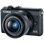 Canon EOS M100 Mirrorless Digital Camera with 15-45mm Lens (Black) Open Box (Open Box)