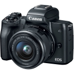 Canon EOS M50 Mirrorless Digital Camera with 15-45mm Lens (Black) Open Box (Open Box)