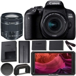 Canon EOS 800D (Rebel T7i) DSLR Camera with 18-55mm is STM Lens (Black) Professional Accessory Bundle Package