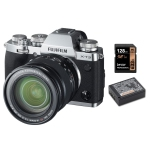 Fujifilm X-T3 Body Silver XF16-80mm f4 XF R OIS WR with Fujifilm NP-W126S Battery and Lexar 128GB 633X SDXC Card Package