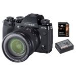 Fujifilm X-T3 Body Black XF16-80mm f4 XF R OIS WR with Fujifilm NP-W126S Battery and Lexar 128GB 633X SDXC Card Package