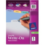 16131 Big Tab Write /& Erase Durable Plastic Dividers 8 Multicolor Tabs 1 Set