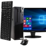 Lenovo M93 Computer with LCD Windows 10 Pro and 512GB SSD Keyboard/Mouse Bundle 22in Monitor (Refurbished)