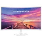 "Samsung 32"" 60Hz 4ms Curved PLS LED Monitor (LC32F391FWNXZA) - White - Open Box"