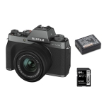 Fuji X-T200 Dark Silver with 15-45mm with Battery and 64gb SD Card
