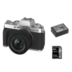 Fuji X-T200 Silver with 15-45mm with Battery and 64gb SD Card