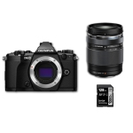 Olympus OM-D E-M5 Mark II Black with 14-150mm II Lens and 128gb SD Card