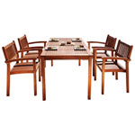 5-Piece Eucalyptus Patio Dining Set - Tan