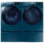 Samsung 5.2 Cu. Ft. HE Front Load Washer & 7.5 Cu. Ft. Electric Steam Dryer - Blue Sapphire