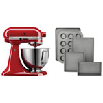 KitchenAid Custom Stand Mixer with 5-Piece Bakeware Set - Empire Red