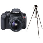 Canon EOS Rebel T6 DSLR Camera with 18-55mm Lens & Tripod