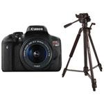 Canon EOS Rebel T6i DSLR Camera with 18-55mm IS STM Lens Kit & Tripod