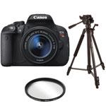 Canon EOS Rebel T5i DSLR Camera with 18-55mm IS STM Lens, Tripod & UV Filter