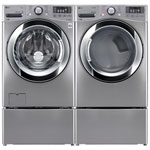 LG 5.2 Cu. Ft. HE Front Load Steam Washer & 7.4 Cu. Ft. Electric Steam Dryer - Silver