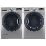 LG 5.2 Cu. Ft. HE TurboWash Front Load Steam Washer & 7.4 Cu. Ft. Electric Steam Dryer - Silver