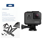 GoPro HERO5 4K Sports & Helmet Camera & Insignia 5-Piece GoPro Accessory Kit Bundle