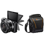 Sony A5000 Mirrorless Camera with 16-50mm Lens & Camera Bag