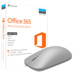 Microsoft Office 365 Personal & Microsoft Modern Mouse - Grey - English