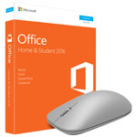 Microsoft Office Home and Student 2016 & Microsoft Modern Mouse - Grey - English