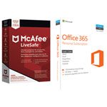 McAfee LiveSafe 2018 & Microsoft Office 365 Personal (PC/Mac) - 1 User - 1 Year - English