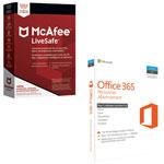 McAfee LiveSafe 2018 et Microsoft Office 365 Personnel (PC/Mac) - 1 utilisateur - 1 an - Français