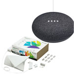 Nanoleaf Aurora Rhythm Smarter LED Light Panel Kit & Google Home Mini