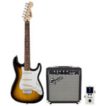 Squier Affinity Series Stratocaster Pack & Fender FTN-1 Pedal Tuner