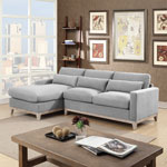 Jasper Modern 3-Seat Sectional Sofa with Left-Facing Chaise - Slate