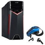 Acer Aspire GX PC & VR Headset w/Controllers Bundle(i7-7700/3TB HDD/128GB SSD/NVIDIA GTX 1060/Win10)