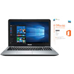 "ASUS X555QA 15.6"" Laptop & Microsoft Office 365 Personal Bundle (AMD A10-9620P/1TB HDD) - English"