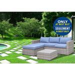 Ensemble de patio Elba - Gris frais - Turquoise spa