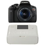 Canon EOS Rebel T6i DSLR Camera with 18-55mm IS STM Lens Kit & Selphy CP1300 Wireless Photo Printer