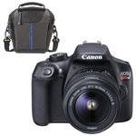 Appareil photo reflex numérique EOS Rebel T6 de Canon avec objectif 18-55 mm et sac à bandoulière