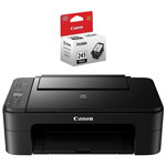 Canon PIXMA TS3129 Wireless All-in-One Inkjet Printer with PG-245 Black Ink