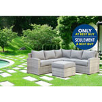Lioni Elba 6-Piece Wicker Patio Conversation Set - Grey