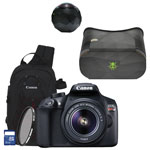 Canon EOS Rebel T6 DSLR Camera with 18-55mm Lens, 360fly HD Camera with VR Viewer & Accessory Kit