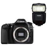 Canon EOS 80D DSLR Camera (Body Only) with Speedlite 430EX III-RT Flash