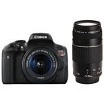 Canon EOS Rebel T6i DSLR Camera with 18-55mm/75-300mm Lenses