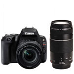 Canon EOS Rebel SL2 DSLR Camera with 18-55mm/75-300mm Lenses