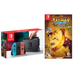 Nintendo Switch with Neon Red/Blue Joy-Con & Rayman Legends: Definitive Edition
