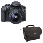 Canon EOS Rebel T6 DSLR Camera with 18-55mm Lens & Camera Bag - Grey
